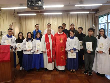 郭志丕主教、李耀強牧師、堂委成員(2017)